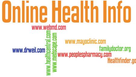 Online Health Info Wordle