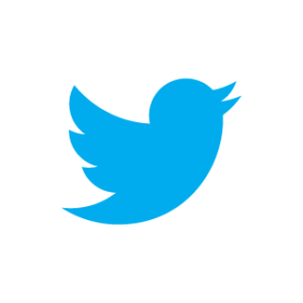 Twitter bird, blue on white