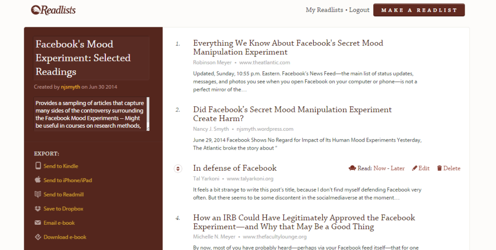 An E-book (free) on the Facebook Mood Experiments Controversy
